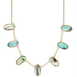 Kendra Scott Meadow Abalone&Rose Gold Necklace
